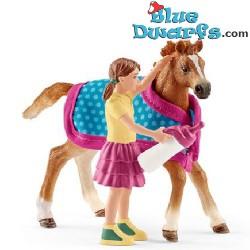 Schleich paarden: Veulen met dek (Horse club/ Schleich 42361)
