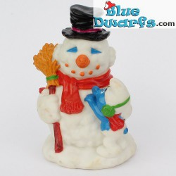 Snowman and smurf *Candytopper* (BIP Holland, +/- 8cm)