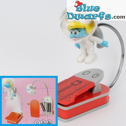 Book Light Astro Smurf with clip