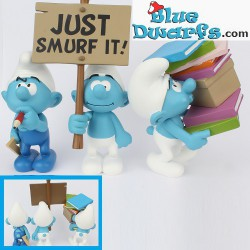 3 Newest Plastoy smurfs  (2017)