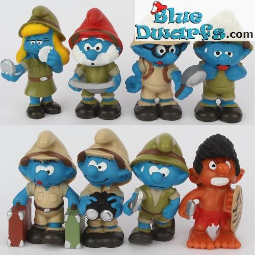 20779 Tired Jungle Adventure Smurf Figure 2016 Plastic Miniature Figurine