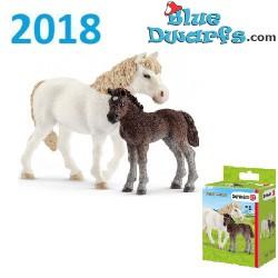 Schleich paarden 2018: Pony met veulen (42423)