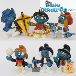 20501-20506: Full set of  6 Historical smurfs