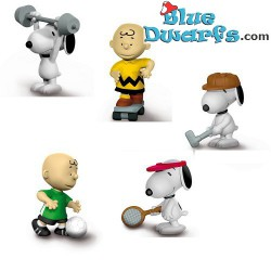 5x Snoopy/ Peanuts Schleich, Theme *SPORT 2018* (22075-22079)