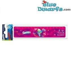 """Smurfin lineaal """"Smerfy"""" (+/- 16x3,5cm)"""