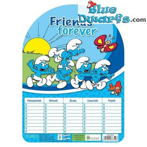 "Smurf planner ""Smerfy"" (+/- 18x25cm)"