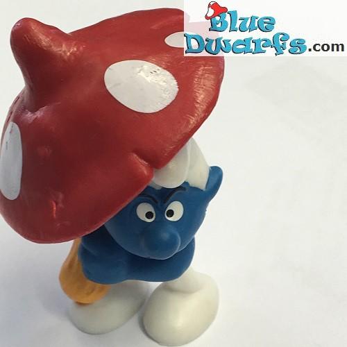 20118: Umbrella Smurf *Matte paint version* (printed dots)