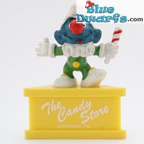 20090: Jester Smurf *The Candy Store* (pedestal)