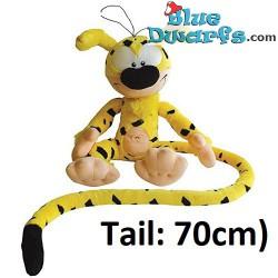Knuffel: Marsupilami (+/- 30 cm) met 70 cm lange staart