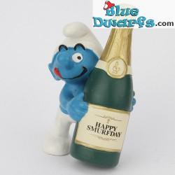 20708: Champagene bottle Smurf (Jubilee 2008)
