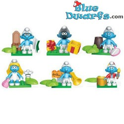 6x Mega Blocks: Suprise smurf (10757)
