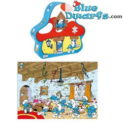 Smurf house puzzle 48 pieces