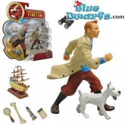 "Set Tim:  ""Tintin met son trench"" (Plastoy/ +/- 9cm)"