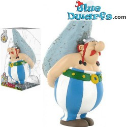 Asterix and Obelix: Obelix with stone moneybox (Plastoy,+/- 10x7x16cm)