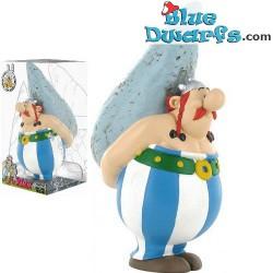 Asterix und Obelix: Obelix mit Hinkelstein Spardosen (Plastoy,+/- 10x7x16cm)