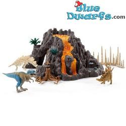 Dinosaur set: T-rex with volcano (Schleich/42305)