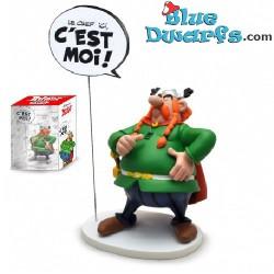Majestix with text:  Le Chef ici: C'est moi! (Plastoy 2017)
