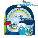 Dinner set of 3 items (smurfs)