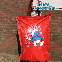 Sit and Enjoy Beanbag XXL Smurf in love (90x110 cm)