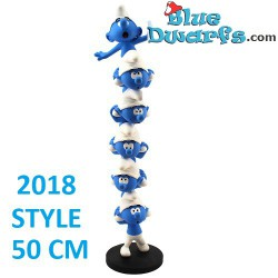 "PLA0187:   ""The Column of the Smurfs"" Schlümpfe  XXL (+/- 50cm)"