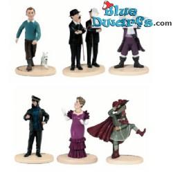 """Beeldje Kuifje: """"6x Tintin figuur"""" (Carrefour)"""