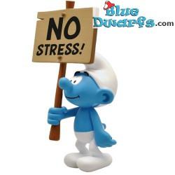 "PLA0181+PLA182: Sign bearer Smurfs ""No Stress + Je Pense donc je schtroumpf"" (2018)"