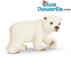 Schleich animals: Polar bear cub walking (14708, +/- 6,5x 4x 4cm)