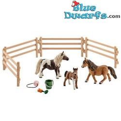 Schleich Horses: Miniature Shetland pony family (Farmlife/ Schleich 41435)