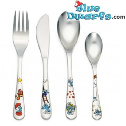 The Smurf children cutlery set 4 parts