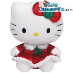 Plush: Hello Kitty with christmas dress *beaniebag* (+/- 15 cm)