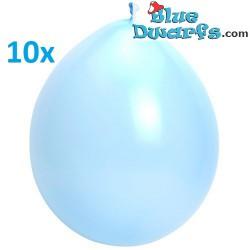 10 x smurfblauwe ballonnen (+/- 30cm)