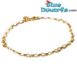 Armband geschikt voor smurfenhangers geel (Diamanti per Tuti, +/- 16cm)