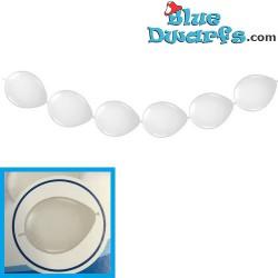 8x smurf white Anaphalis balloons  (+/- 30cm)