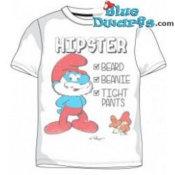 Grande puffo HIPSTER maglietta (Taglia M)