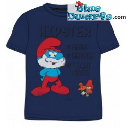 Papa smurf HIPSTER smurf T-shirt (Size M)