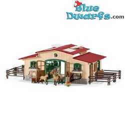 Schleich Horses: Farmworld Horse stall with horses (42195)