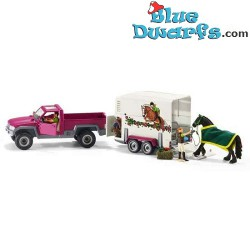 Schleich Horses: Pick up with horse box (42346)