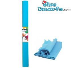 Papier crépon bleu (200x50 cm)