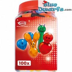 100 x shape balloon in bucket