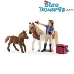 Schleich Horses: Stablehand with Shetland Ponies (Horse club/ Schleich 42362)