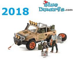 Schleich Wildlife 2018: 4x4 Jeep with ranger (42410)