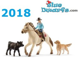 Chevaux Schleich 2018: Cowgirl (Farmworld: 42419)