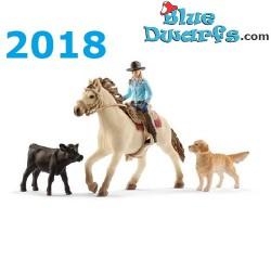 Schleich Pferde 2018: Cowgirl (Farmworld: 42419)