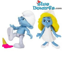 Clumsy Smurf and smurfette *Jakks Pacific * (+/- 7cm)
