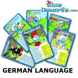 Kartenspiel Schlümpfe farbig (55 Karten)