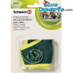 Schleich Horses: Horse blanket and headstall pony (Schleich 42121)