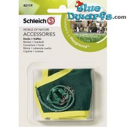 Schleich paarden: Paarden deken met halster voor pony (Schleich 42121)