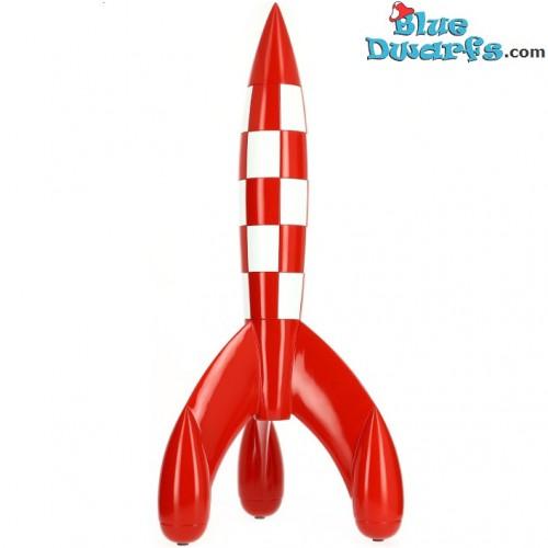 """Statue tintin:  Moon rocket """"Fusée lunaire""""  (Moulinsart/ 30cm)"""
