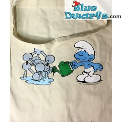Smurf cotton Bag Atomium (+/- 40 x 38 cm)