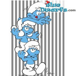 Fleece plaid smurfs (120 x 150 cm)